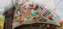 """Cool Thing We Want #255: Vintage-Style """"Across Canada"""" Kitsch Pillow At Mintage"""