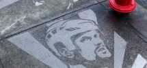 Seen In Vancouver #291: Sweet Sidewalk Stencils Of Sedin And Kesler At Main & 3rd