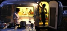 "On The Night ""Eat Together"" Joined Up With The ""Tin Can Studio"" Airstream For Dinner…"