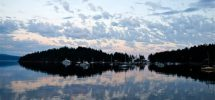 The View From Your Window #140: A Calm Sunset Somewhere In Pendrell Sound, BC