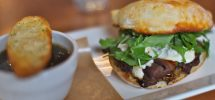 "AWESOME THING WE ATE #879: Beef And Blue Sandwich With French Onion ""Au Jus"""