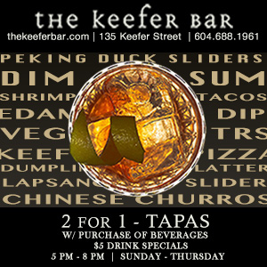 "OPPORTUNITY KNOCKS | ""The Keefer Bar"" Is On The Lookout For An Experienced Cook"