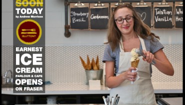 """DINER   """"Earnest Ice Cream"""" Set To Open Their New Parlour & Cafe On Fraser Today"""