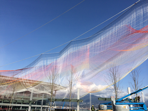 SEEN IN VANCOUVER #488 | Fishing Net Art Installation Rises At The Convention Centre