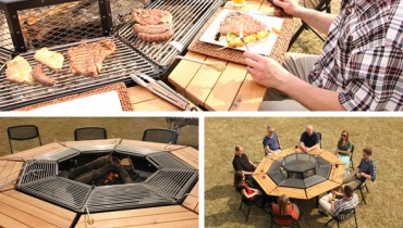 COOL THING WE WANT #436 | This Wood Fired, Octagonal Picnic Bench Masterpiece
