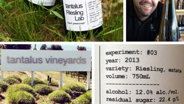 "MESSAGE IN A BOTTLE | Testing Tantalus Vineyards' Experimental ""Riesling Lab"" 2013"