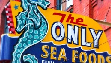 "SEEN IN VANCOUVER #548 | The Mystery Of The Missing ""Only Seafood"" Neon Seahorse"