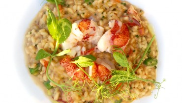 "AWESOME THING WE ATE #957 | Poached Lobster, Carrot, Snap Pea Risotto At ""Ancora"""