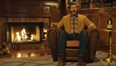 SMOKE BREAK #1156 | 45 Minutes Of Nick Offerman Quietly Drinking Whisky By The Fire