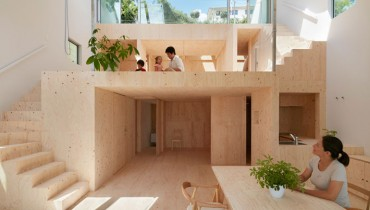 SPACED | Bright 'Re-Slope' House In Japan Designed To Cling To Its Natural Topography