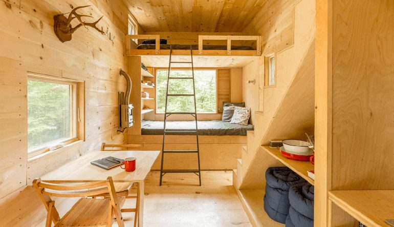 SPACED   Isolated, Off-Grid Hideaway In The Woods, Free From Rain And 'Alternative Facts'